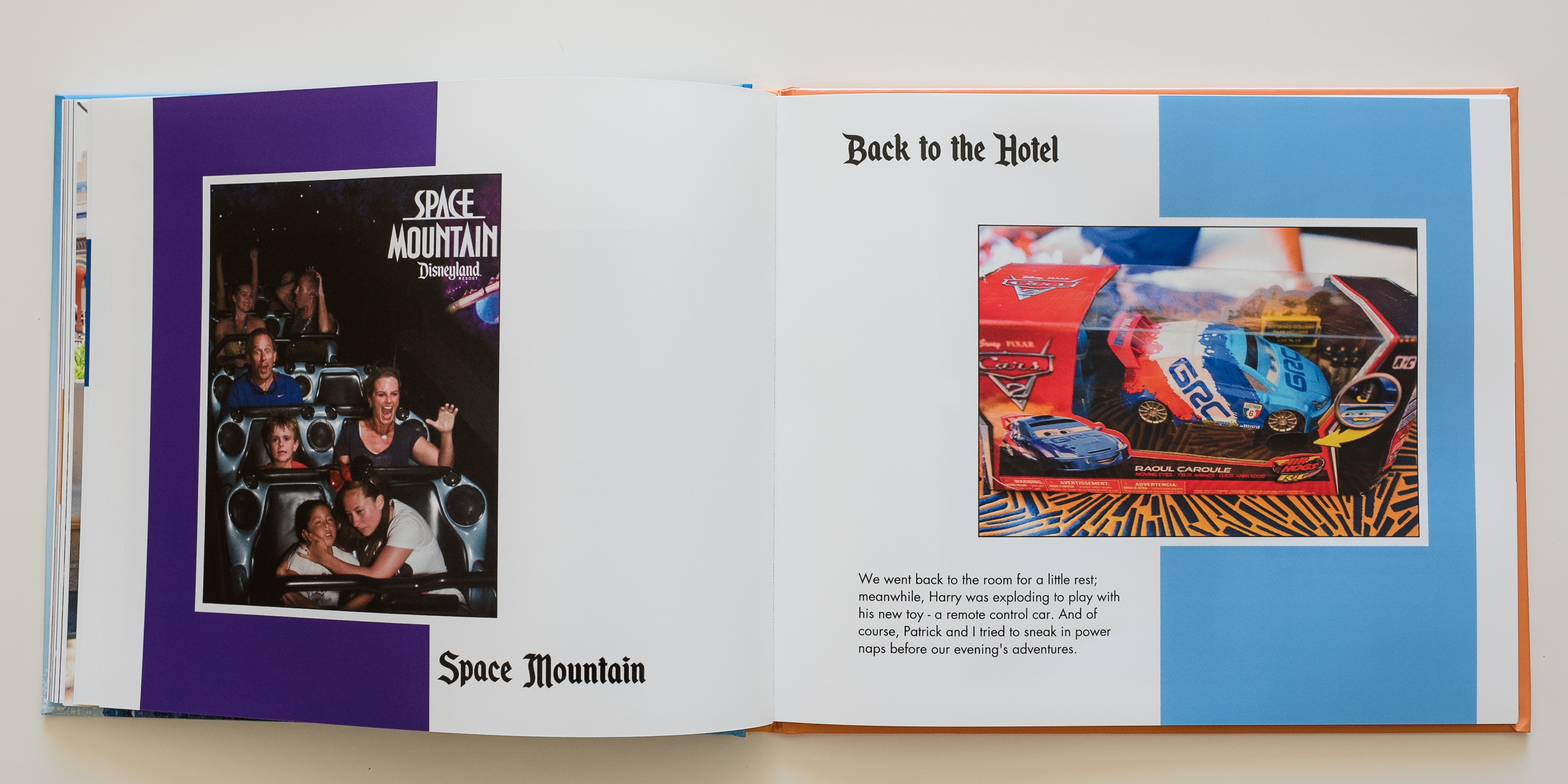 a disneyland photo book | surf and sea design
